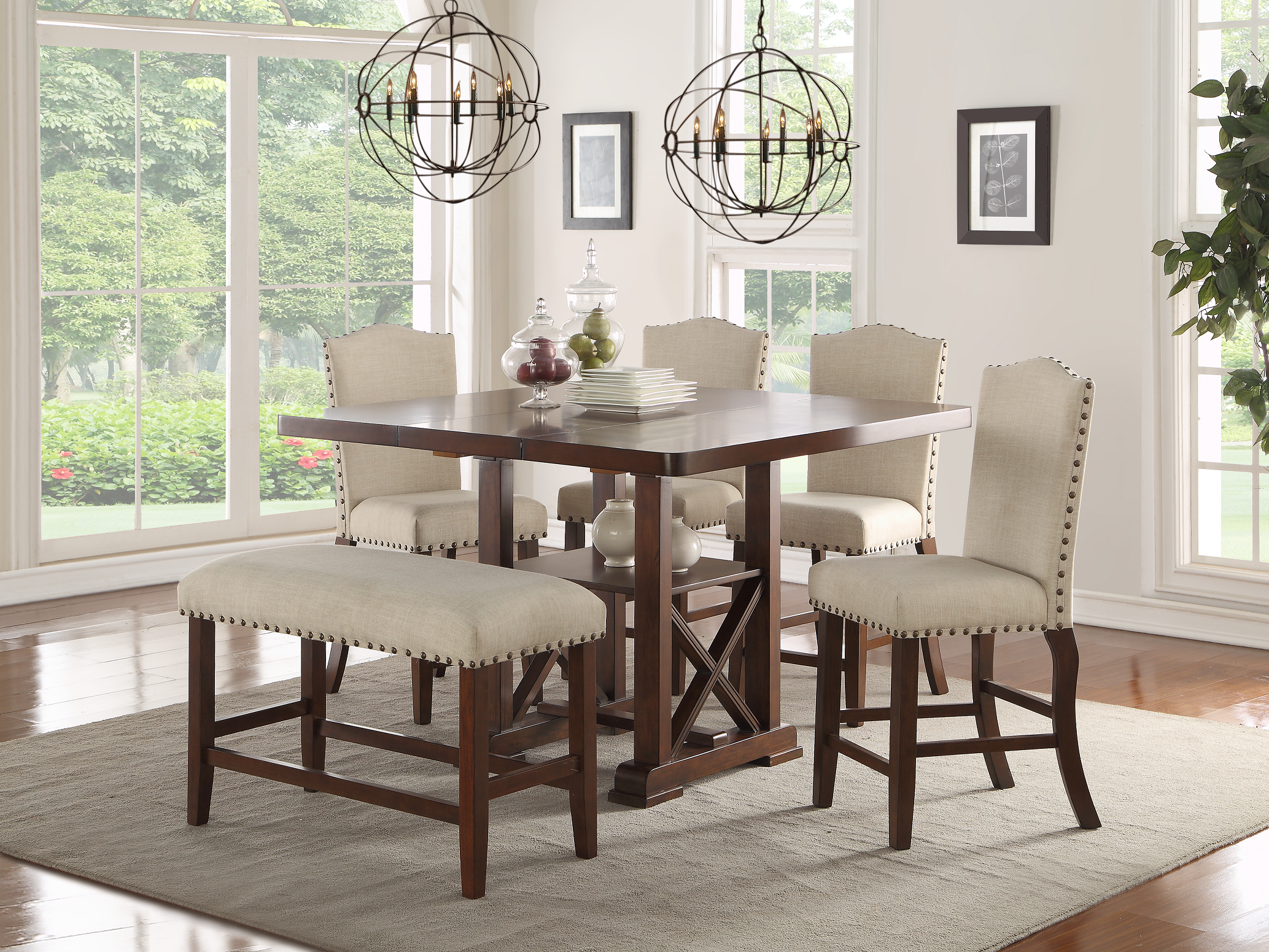 Counter Height Formal Dining Set